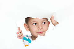 Curious little boy Royalty Free Stock Images