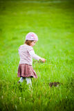 Curious little girl Royalty Free Stock Photos