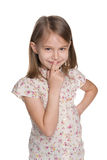 Curious little girl Stock Image