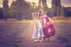 Curious little girls Stock Image