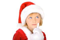 Curious little Santa Stock Images