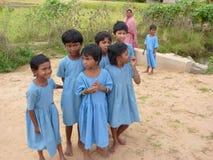 Curious local school children Stock Image