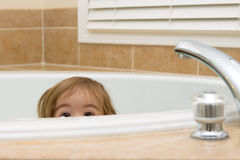 Curious Look in Bathtub Royalty Free Stock Photo