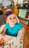 Curious Looking Baby Stock Photography
