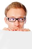 Curious man Stock Images