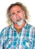 Curious Man with Beard Stock Images