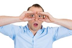 Curious man Royalty Free Stock Photography