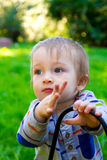 Curious One Year Old Boy Royalty Free Stock Photo