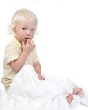 Curious and Pensive  Little Baby Boy Stock Image