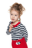 Curious preschool girl Stock Photos