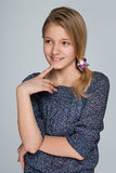 Curious preteen girl Stock Photos