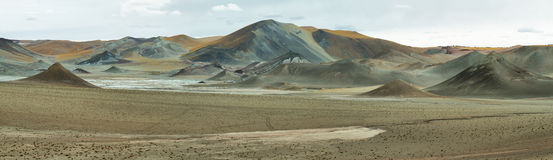 Curious pyramidal formations in Sico Pass Stock Images