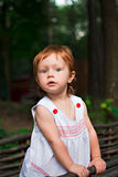 curious red-haired girl royalty free stock photo