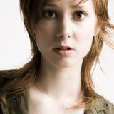 Curious redhead stock photo