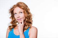Curious Redhead Royalty Free Stock Photography