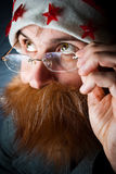 Curious Santa Royalty Free Stock Photo