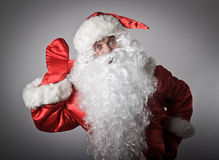 Curious Santa Claus Royalty Free Stock Image