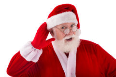 Curious Santa Royalty Free Stock Photography