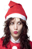 Curious Santa Woman Royalty Free Stock Image