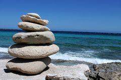 Curious stones. In Formentera island Stock Photography