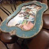 Curious table from Cuban art Royalty Free Stock Photos