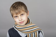Curious teenager boy Stock Photography