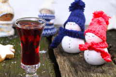 Curious to mulled wine Royalty Free Stock Image