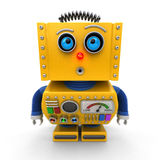 Curious toy robot Royalty Free Stock Photography