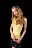 Curious young blonde girl with sensual look Royalty Free Stock Photography
