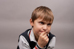 Curious young boy Stock Photography