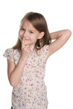 Curious young girl Royalty Free Stock Photos
