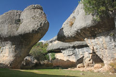 Curiously shaped rocks. Royalty Free Stock Photography