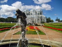 Curitiba botaniskt springbrunnväxthus Arkivbilder