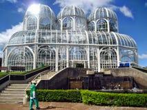 Curitiba botaniskt växthus Arkivfoto