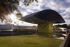 Curitiba Brasilien - Juli, 2017: Oscar Niemeyer Museum eller MÅNDAG, in Royaltyfria Foton