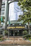 Federal police building. Curitiba, Brazil, December 29, 2017. Facade of the headquarters of the Federal Court, in Curitiba Stock Photo