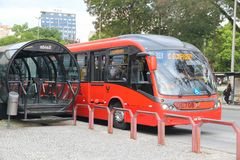 Curitiba-Bus Stockfotos