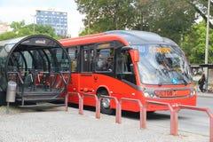 Curitiba buss Arkivfoton