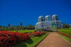 CURITIBA, EL BRASIL - 12 DE MAYO DE 2016: el jardín botánico en el curitiba también conocido como rischbitter del fanchette del b Foto de archivo libre de regalías