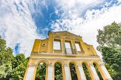 CURITIBA, PARANA/BRAZIL - 28 DE DICIEMBRE DE 2016: Bosque hace el parque de Alemao Imágenes de archivo libres de regalías