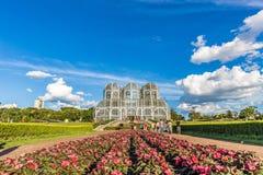 CURITIBA PARANA/BRAZIL - DECEMBER 26 2016: Botanisk trädgård i en solig dag Royaltyfri Foto