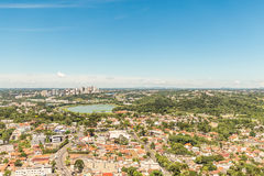 CURITIBA, PARANA/BRAZIL - GRUDZIEŃ 27 2016: Widok od Curitiba ` s panoramiczny wierza Fotografia Royalty Free