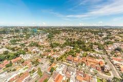 CURITIBA, PARANA/BRAZIL - GRUDZIEŃ 27 2016: Widok od Curitiba ` s panoramiczny wierza Obraz Royalty Free