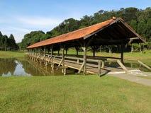 Curitiba Park jeziora most Zdjęcie Stock
