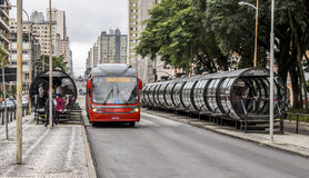 Curitiba's Public Transportation Royalty Free Stock Photo