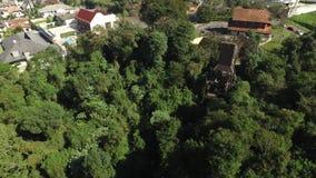 Curitiba, vista aérea Bosque faz o parque de Alemao Parana - Brasil Em julho de 2017 filme