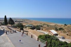 Curium Antyczny teatr Kourion Limassol, Cypr - zdjęcie stock