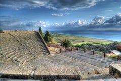 Curium Greco - Roman Amphitheatre i Limassol, Cypern Arkivbilder