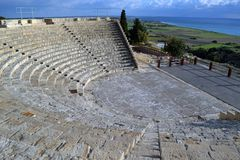 Curium Grieks-Romeinse Amphitheatre in Limassol Cyprus Royalty-vrije Stock Fotografie