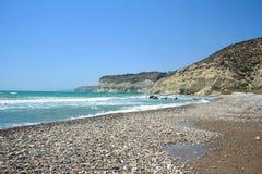 Curium plaża, Cypr Zdjęcia Stock